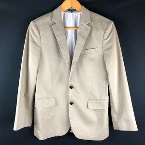 Express Producer Short Tan Sports Coat Blazer